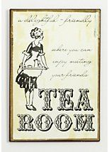 Tea room sign - can be a nice Kitchen towel print too