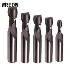 5A 6mm8mm10mm Single Flute Spiral Router Bit Solid Carbide CNC Milling Cutter