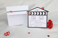 Erdem davetiye, E50614 --> http://www.nikahkalemi.com/?urun-2755-Evlilik-Filmi-Klaket-Davetiye.html