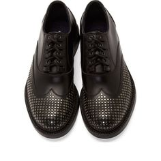 The Best Men's Shoes And Footwear :   Dsquared2 Black Studded Shortwing Oxfords    - #Men'sshoes