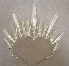 The STELLA Crown - Crystal Quartz Crown Tiara - Magical Ethereal Unique Bridal Headpiece, Hair Accessory