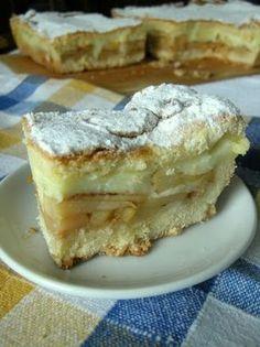 Najlepsze! Ciasto mojej babci z budyniem i jabłkami