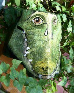 Crocodile Tears Rock Art Painted Stone by 2birdstudio on Etsy