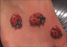 Ladybug Heart Tattoo Designs | Daisy Heart and Ladybug