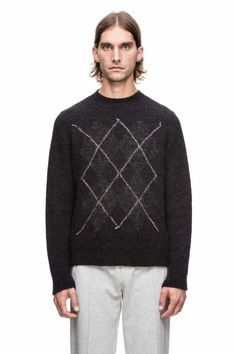 Awesome Argyle needled Knit by Our Legacy.  This also reminds me of my dad's cheap sweater wich is ugly and cool at the same time.