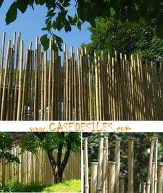 Clôture bambou irrégulier naturel jardin L2-H1.8 à Tout Petit Prix