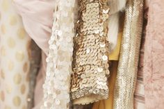 gold and blush tones