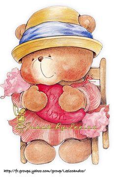 osita con traje rosa