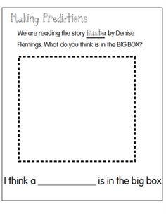 Joyful Learning In KC: Making Predictions Kindergarten Handwriting, Kindergarten Anchor Charts, Reading Anchor Charts, Kindergarten Books, Kindergarten Worksheets, Prediction Anchor Chart, Teaching Reading, Reading Lessons, Guided Reading
