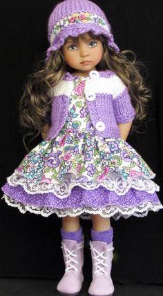 Handmade dress set made for Effner Little Darlings