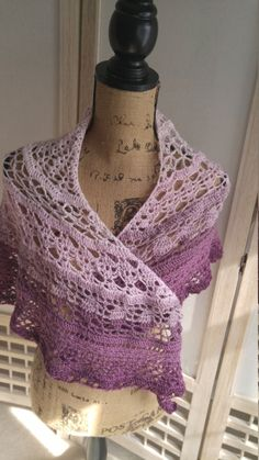 Crochet Cherry Blossom Shawl by AriadnesCrochetDream on Etsy