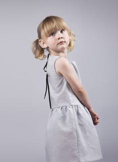 Girls Dove Grey Dress with Black Ribbon Detail Dove Grey, Cute Bows, Black Ribbon, Drop Waist, Body Measurements, Gray Dress, Kids Clothing, 6 Years, Boy Or Girl