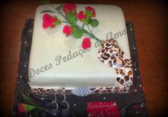 Doces Pedaços de Amor: Bolo Rosas e Leopardo