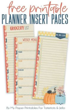 538 best printable planner inserts images on pinterest in 2018