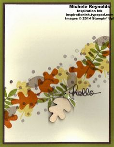 Fall Fest Leaves Swoosh by Michelerey - Cards and Paper Crafts at Splitcoaststampers