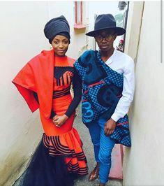 shweshwe designs 2018 traditional dresses - style you 7 African Wedding Attire, African Attire, African Wear, African Style, African Print Fashion, Africa Fashion, African Prints, Ethnic Fashion, Women's Fashion
