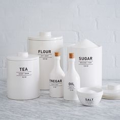 Epic Mother's Day Ideas   For the Mom who lives in the Kitchen - West Elm Utility Kitchen Canisters, $19–$39; at West Elm. @stylecaster   Presented by Coach