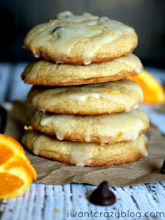Orange Chocolate Chip Cookies are packed with orange flavor that will make you never want summer to end! Super yummy and an upgrade from the usual chocolate chip! #cookies #orange #chocolate