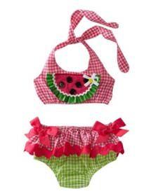 Watermelon Bikini by Mud Pie Baby
