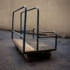 A trolley used in warehouses.