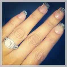 #wedding #nails #engagement ring