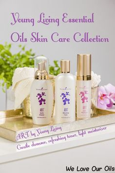ART skin care collection from Young Living Essential Oils! 3 amazing skin care products. Gentle cleanser, Refreshing toner & Light moisturizer.
