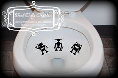 Toilet aim decals. Need this more than I care to say.