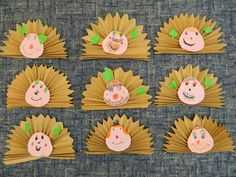 hedgehog craft for kids Autumn Crafts, Fall Crafts For Kids, Autumn Art, Art For Kids, Diy And Crafts, Paper Crafts, Arts And Crafts, Nursery Crafts, Hedgehog Craft