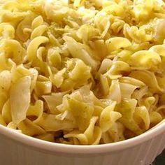 Haluski - Cabbage and Noodles Recipe with wide egg noodles, butter, onions, cabbage, salt and ground black pepper, water