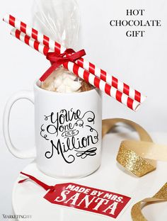 Happy Holidays: Hot Chocolate Gift for Top Clients - inexpensive, fun and memorable... the gift that keeps on giving.