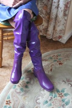 Purple OTK rubber boots waders wellies
