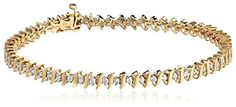 14k Gold S-Link Diamond Tennis Bracelet (1 cttw, H-I Color, I1-I2 Clarity)