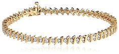 14k Gold S-Link Diamond Tennis Bracelet (1 cttw, H-I Color, I1-I2 Clarity)