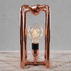 Custom Copper Vintage Table Lamp  Handmade by CopperCreationz