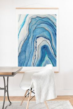 Viviana Gonzalez AGATE Inspired Watercolor Abstract 02 Art Print And H | DENY Designs Home Accessories
