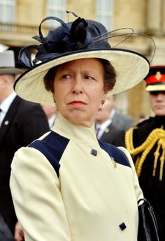 Britain's Princess Anne, Princess Royale, attends a special Garden Party for members of the Household Cavalry at Buckingham Palace in central London on 28.05.2014.