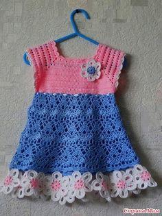 Vestido para niñas tejido a crochet con patrones01