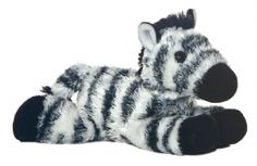 Zany Zebra (Mini Flopsie) at theBIGzoo.com, a family-owned gift shop with 12,000+ animal-themed items.