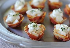 Pancetta Cups With Goat Cheese And Pear