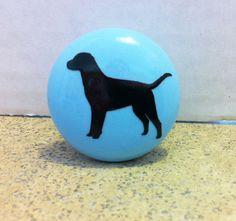 Labrador Retriever Dog Drawer Knobs Pulls Set of 6 by sookiedog, $21.00