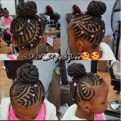 A cute little hairstyle for kids