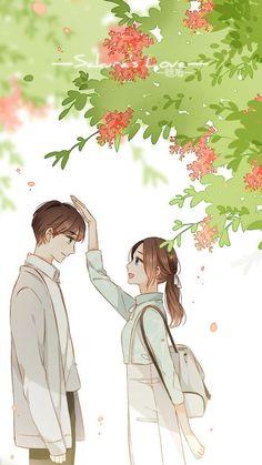 so cute :3333 follow me <333 Manga Couple, Anime Love Couple, Cute Anime Couples, Anime Girls, Anime Art Girl, Manga Anime, Manga Art, Bts Art, Style Anime