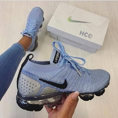 Shop Wmns Air VaporMax Flyknit 2 'Aluminum' - Nike on GOAT. We guarantee authenticity on every sneaker purchase or your money back. Nike Air Max, Nike Air Shoes, Cute Nike Shoes, Nike Tennis Shoes, Sports Shoes, Basketball Shoes, Nike Shoes Outfits, Running Shoes Nike, Running Sneakers