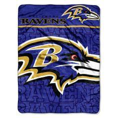 IFS - Baltimore Ravens NFL Micro Raschel Blanket (Living Large Series) (46in x 60in) null.