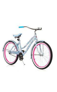 Looks like the bike I just bought...girly pink and white, I'm seven again when I ride it.