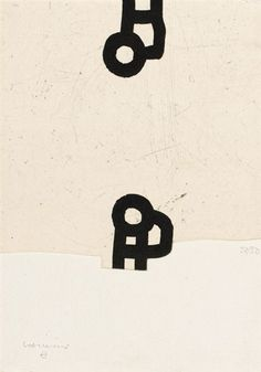 Eduardo Chillida Anjana, Etching with aquatint and embossing, printed on Segundo Santos paper. Etching size: H x W. Edition of 66 copies. Graphic Prints, Art Prints, Block Prints, Abstract Words, Fine Art Auctions, Encaustic Painting, Illuminated Letters, Art Graphique, Linocut Prints