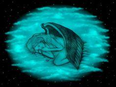 'Schlafender Engel  auf Wolken 2' von artkszp bei artflakes.com als Poster oder Kunstdruck $16.63  - #NEW #Fantasy #Art #Angel #love #valentine