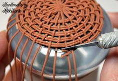 polymer clay woven basket tutorial