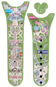 Magic Park Map Magic Band 2.0 Cover Skin by ThimbleThreadsDotCom