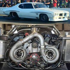 Justin Shearer Big Chief Twin Turbo Pontiac Lemans 482ci Pontiac - IA II, Crower Crank, GRP Rod's, Ross Piston's, Edelbrock Performer RPM Head's, Fueltech EFI,  & Twin Precision 8891 Turbo's